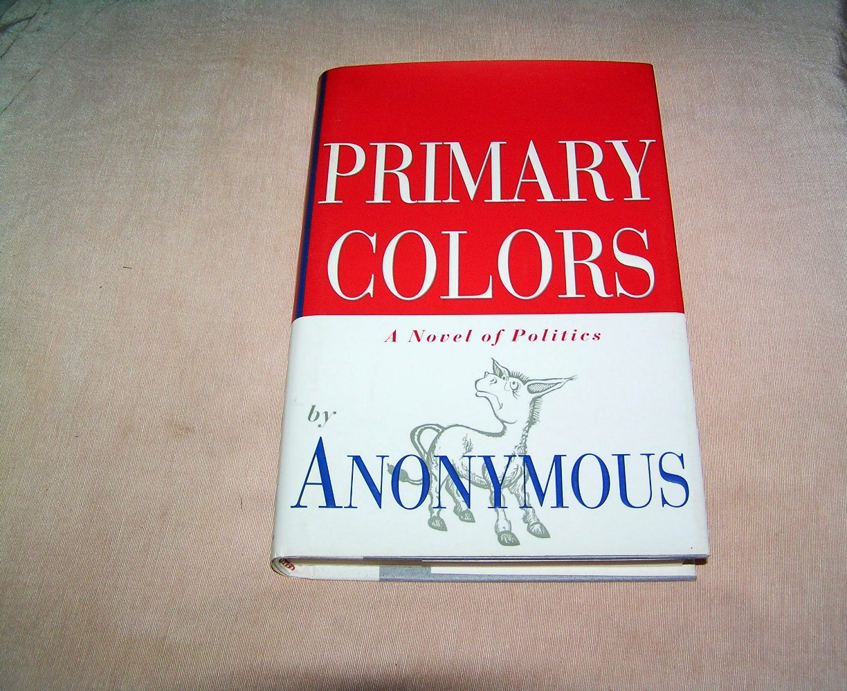 ANONYMOUS Primary Colors 1st Edition   Country Squire Books